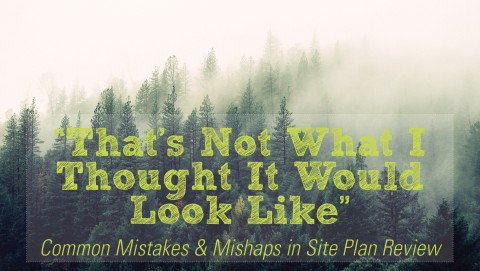 """""""That's Not What I Thought It Would Look Like"""" – Site Plan Review"""