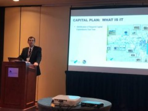 Ronald. J Laberge, PE and Michael S. Cashman, Town of Plattsburgh Supervisor Present at the 2018 AOT Annual Conference in NYC