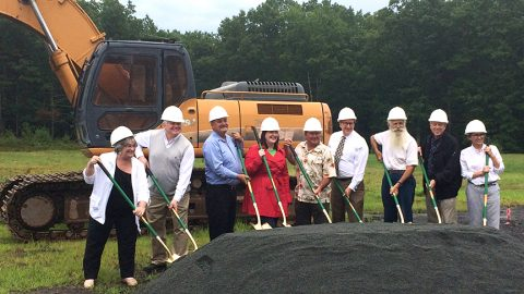 Town of Highland Breaks Ground on Highway Department Garage
