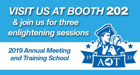 Looking forward to seeing you at the AOT Annual Meeting!