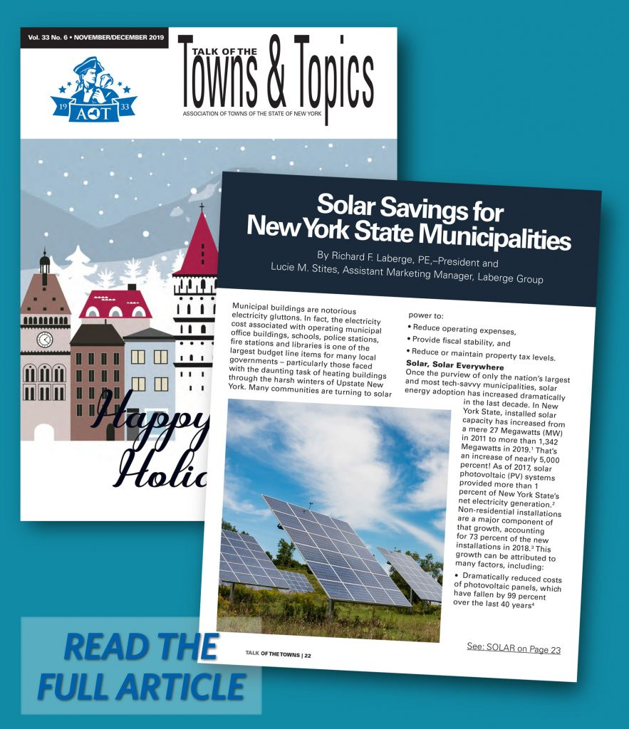 Solar Savings for New York State Municipalities AOT American Association of Towns