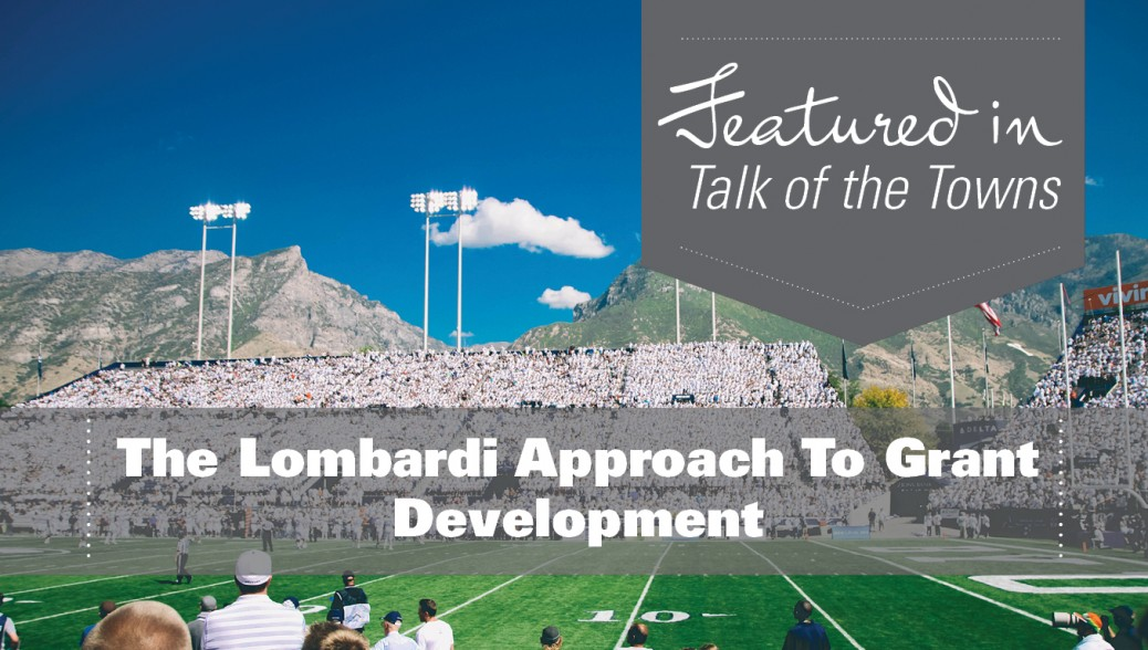 Consolidated Funding Application - The Lombardi Approach To Grant Development