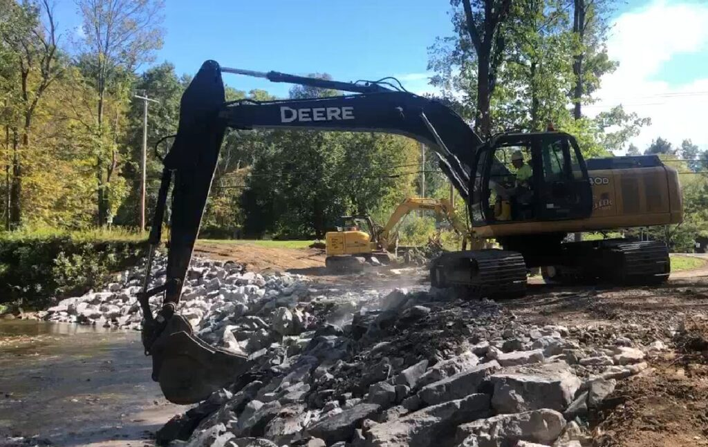 Temporary Bridge Replacement after Flooding Capital Region NY